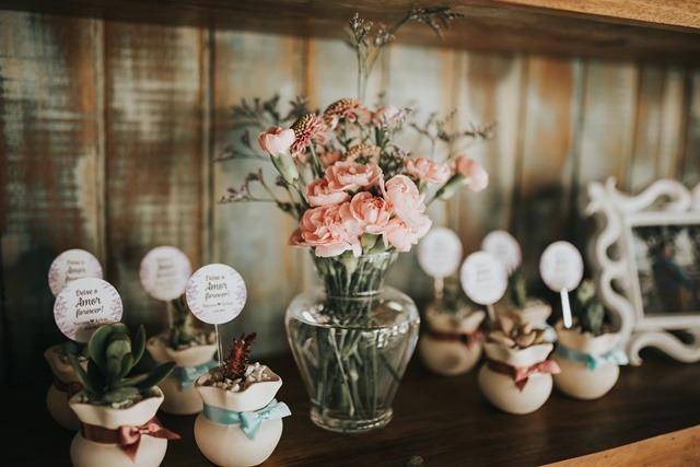 decoração de casamento rústico-chic